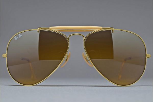b91c689bacc B L Ray-Ban USA OUTDOORSMAN Gold   B-15TGM 58-14 Sunglasses