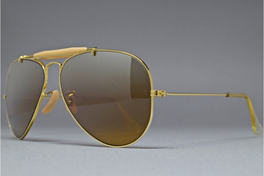 B Amp L Ray Ban Usa Outdoorsman Gold B 15tgm 58 14 Sunglasses