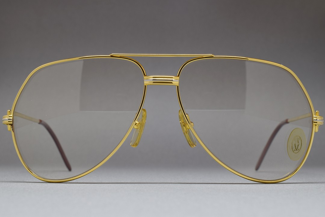 e9f20527382 Cartier Vendome Louis 62-14 Photochromic Brown Mineral glass lenses