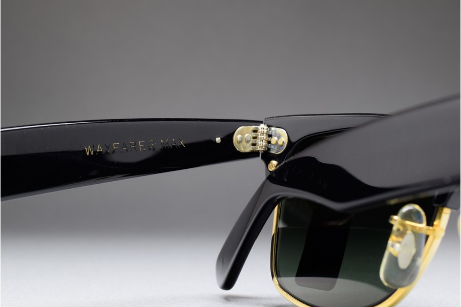 B&L Ray Ban Wayfarer Max I G 15 Lenses 50 18 Ebony Gold