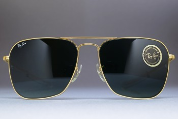 B&L Ray-Ban USA Caravan Straight temple Gold / G-15 58-16 W0768