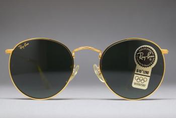 B&L Ray-Ban USA Round Metal Gold / G-15  (50-21) W0603