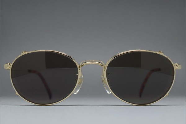 Polo by Ralph Lauren MS-57 GP Oval Frame with Clip on Sunglasses