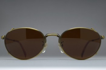 Polo by Ralph Lauren MS-57 A.Brass Oval Frame with Clip on Sunglasses