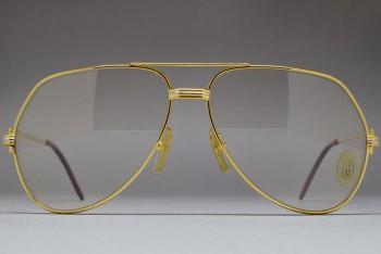 Cartier Vendome Louis 62-14 Mineral glass Photochromic lenses