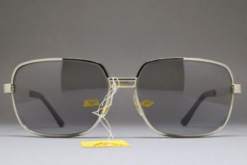LUX DE MOREZ LUXSOL Biker Sunglasses Silver / Grey 66-16