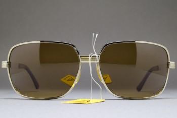 LUX DE MOREZ LUXSOL Biker Sunglasses Silver / Brown 66-16