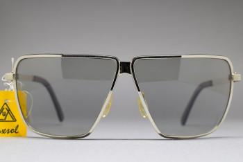 LUX DE MOREZ LUXSOL Biker Sunglasses Silver / L.Grey 64-8