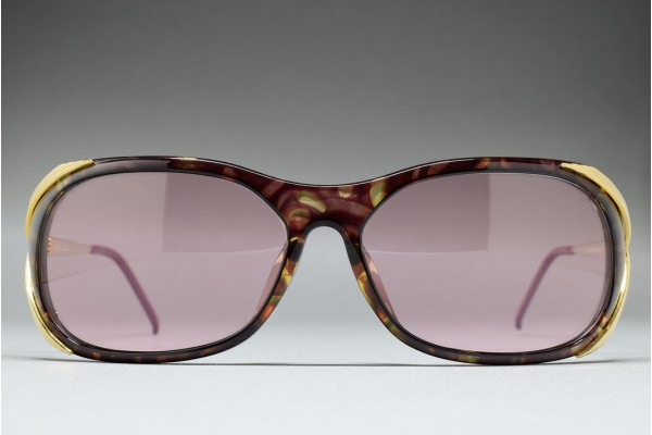 Christian Dior 2610A 80 (62-15) T. Purple marble / Greyish Pink