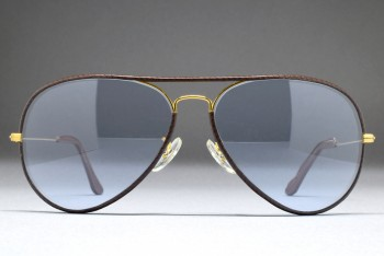 B&L Ray-Ban USA Large Metal II Leathers (62-14) Brown - Arista / L.Blue