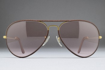 B&L Ray-Ban USA Large Metal II Leathers (62-14) Brown - Arista / G.Pink