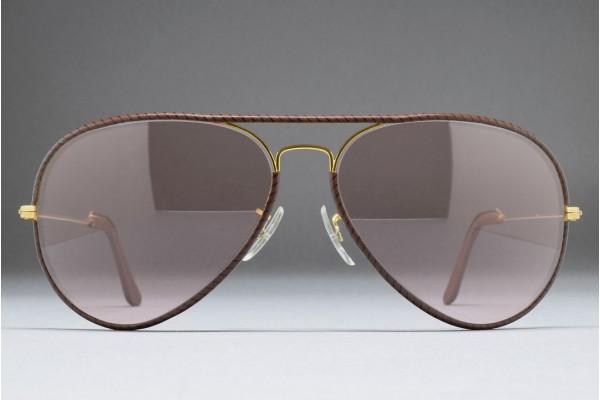 B&L Ray-Ban USA Large Metal II Leathers (62-14) Brown - Arista / G.Pink