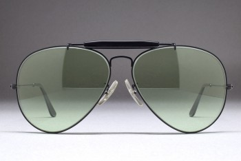 B&L Ray-Ban USA Black Outdoorsman II (62-14) Matte Black / L.Green