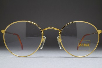Zeiss 5987 4100 (47-21) Engraved Panto Frame Gold