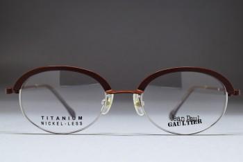 Jean Paul GAULTIER 55-0029 Titanium (47-18) Dark Brown - Silver