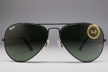 B&L Ray-Ban USA Metal Black G-15 Lenses 58-14