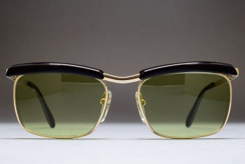 Bausch & Lomb Mod 227 1/20 12K Gold Filled (50-16) Browline West Germany (C.Gold / Green)