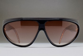 Yves Saint Laurent 8761-9 Y68 France (66-9) Black-Copper mottled / R.brown gradient