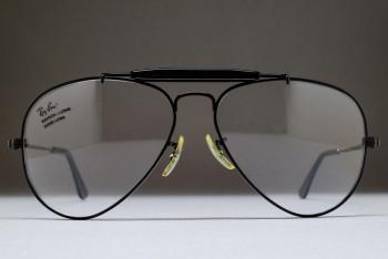 B&L Ray-Ban USA Outdoorsman RX Frame (58-14) Black chrome / USA