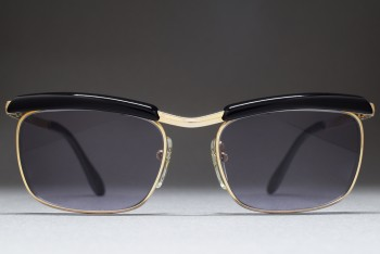 Bausch & Lomb Mod 227 1/20 12K Gold Filled (50-16) Browline West Germany (Gold / Grey)