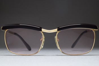 Bausch & Lomb Mod 227 1/20 12K Gold Filled (50-16) Browline West Germany (Gold / Pink)