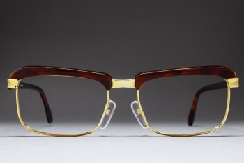 ESSEL HOYA C 0899 Gold Filled Browline Frame (51-19) / FRANCE