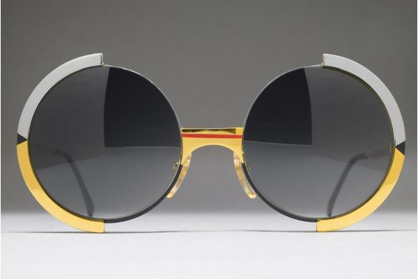 Casanova FC 4 C 68 (52-20) Half Rim Round Sunglasses / ITALY