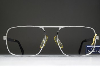 Luxottica 453 (56-18)  Single Upper Bridge Aviator Frame / ITALY