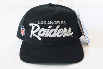 Sports Specialties LOS ANGELES Raiders Double Line Script Snapback Hat