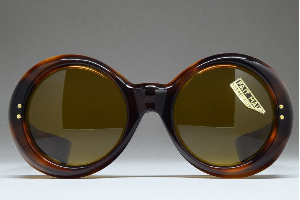 1950s Round Sunglasses [8mm thick celluloid, Fat temples] (48-21) / FRANCE
