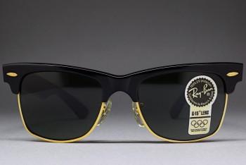 B&L Ray-Ban USA Wayfarer Max I G-15 Lenses 50-18 Ebony / Gold W1269 VPAS