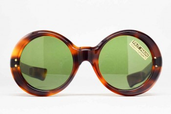 1950s Round Sunglasses (48-22) [7mm Thick celluloid, Fat temples] / FRANCE