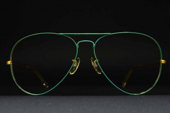 1980s B&L Ray-Ban USA Large Metal II (62-14) Prototype? Flying colors Emerald Green - Arista / USA