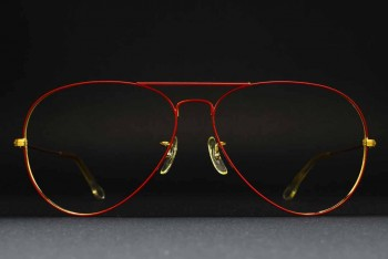 1980s B&L Ray-Ban USA Large Metal II (62-14) Prototype? Flying colors Matte Red - Arista / USA
