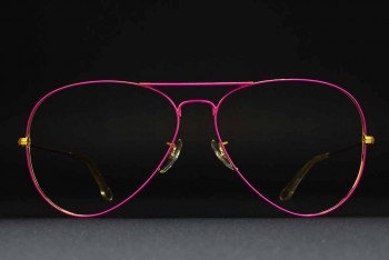 1980s B&L Ray-Ban USA Large Metal II (62-14) Prototype? Flying colors Pink - Arista / USA