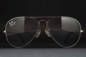 1990s B&L Ray-Ban USA Large METAL II RX Frame (62-14) Gunmetal / USA