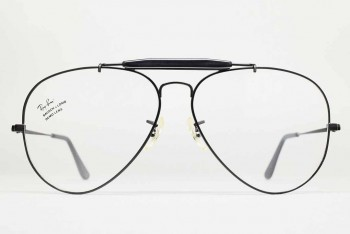 1990s B&L Ray-Ban USA OUTDOORSMAN II RX Frame (62-14) Black / USA