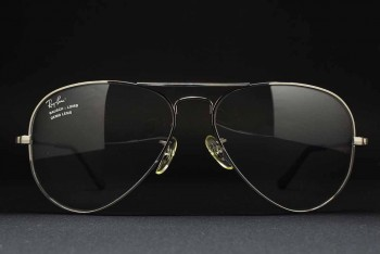1990s B&L Ray-Ban USA Large METAL I RX Frame (58-14) Gunmetal / USA