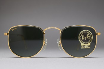 B&L Ray-Ban USA Classic Collection Style II G-15 47-22 Flat Top W0978
